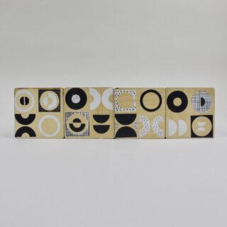 Set of 4 Printed Coasters