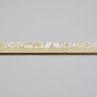 Printed Wooden Ruler
