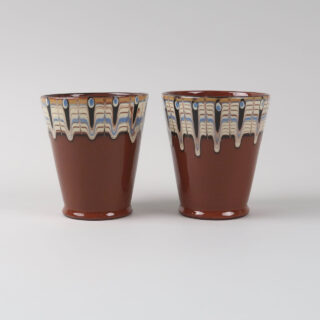 Pair of Slipware Trail Beakers