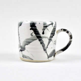 Handmade Black American Splash Mug - Medium