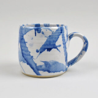 Handmade Blue American Splash Mug - Medium