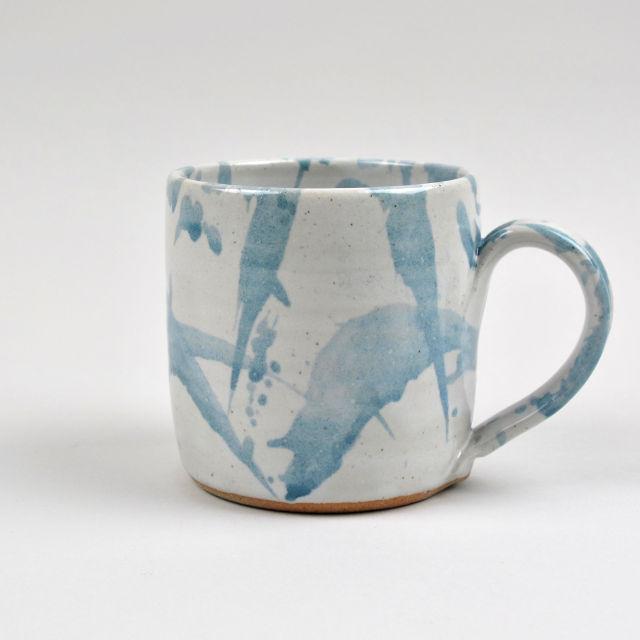 Handmade Grey American Splash Mug - Medium