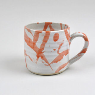 Handmade Red American Splash Mug - Medium