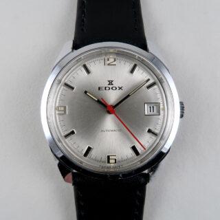 Edox Cal. AS 1903 circa 1975   chrome & steel vintage wristwatch