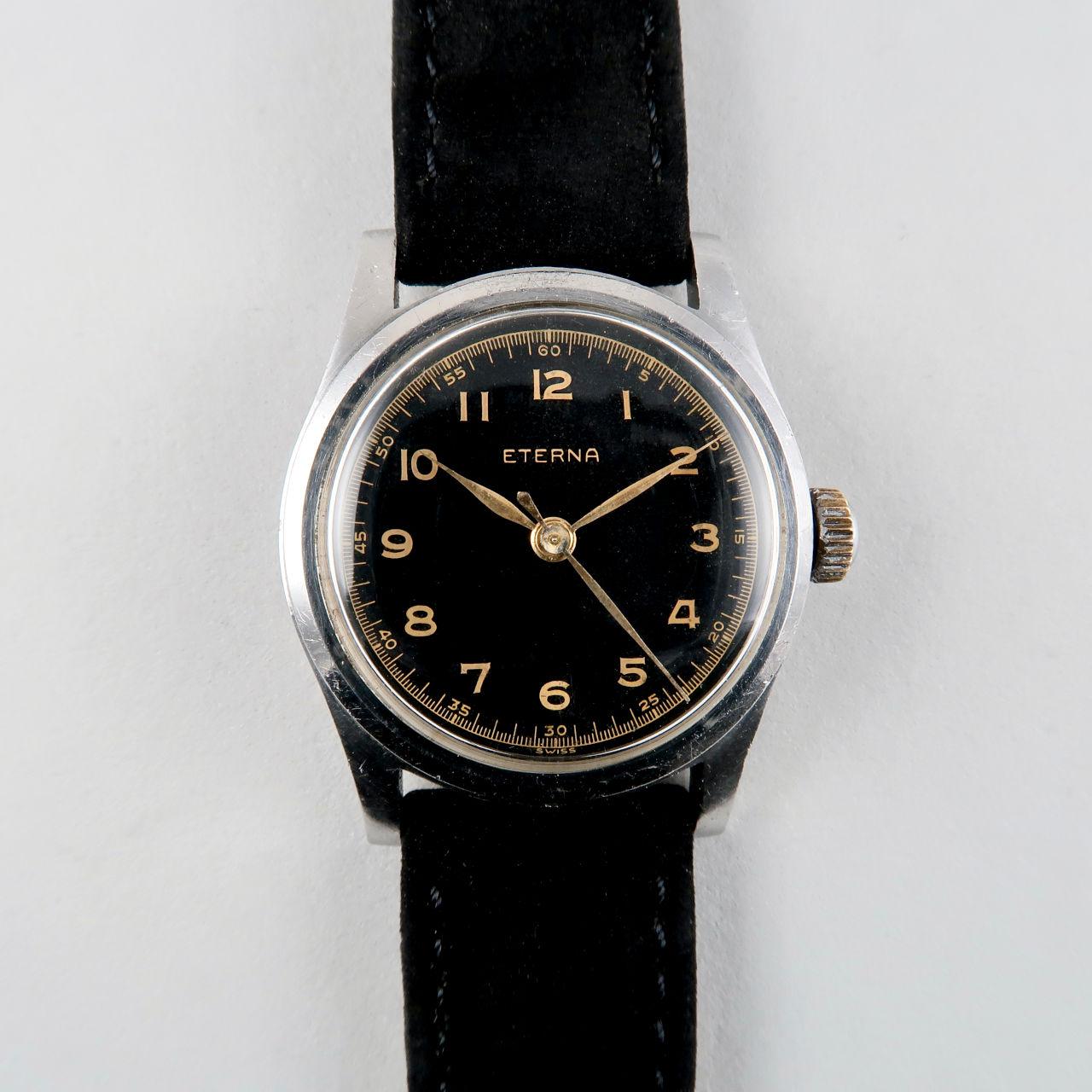 Eterna Cal.600 S circa 1945 | steel mid-sized vintage wristwatch