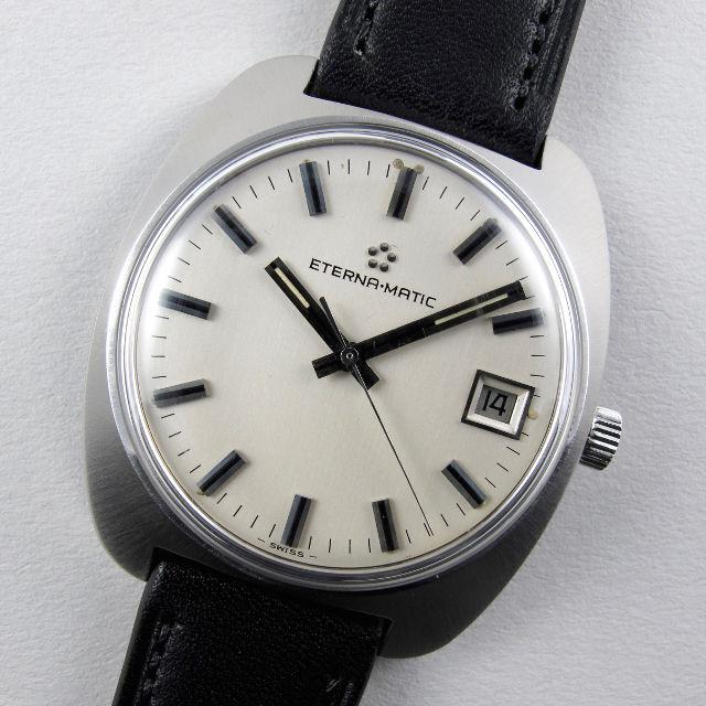 Eterna Eterna-Matic Ref. 148T steel vintage wristwatch circa 1972