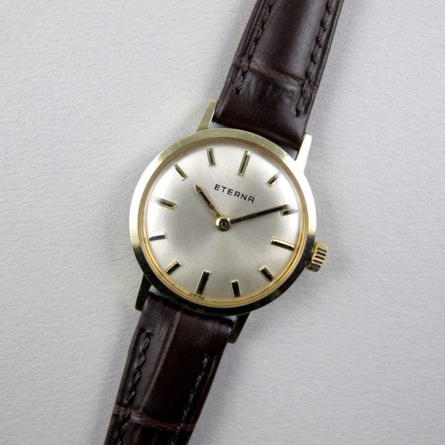 Eterna Ref. 446 gold plated vintage wristwatch, circa 1970