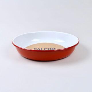 Large Enamel Salad Bowl - Pillarbox Red