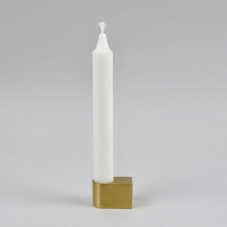 Brass Block Candle Holder