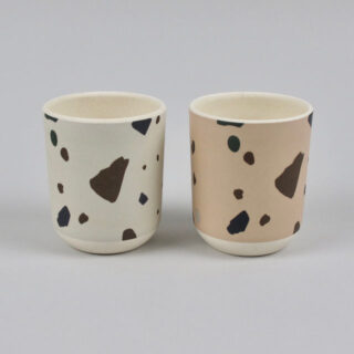 Rose Terrazzo Beaker - Made from Bamboo