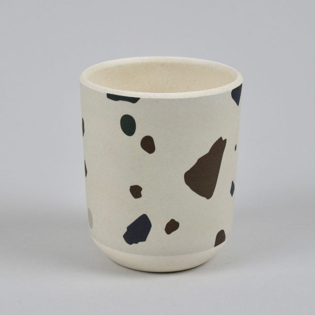 Grey Terrazzo Beaker - Made from Bamboo