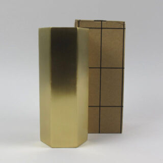 ferm living brass hexagon vase 04