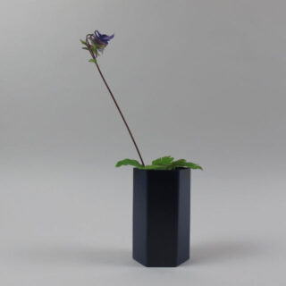 ferm living hexagon vase blue 02