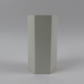 Hexagonal Metal Vase - Grey