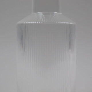 Mouth Blown Glass Ripple Carafe
