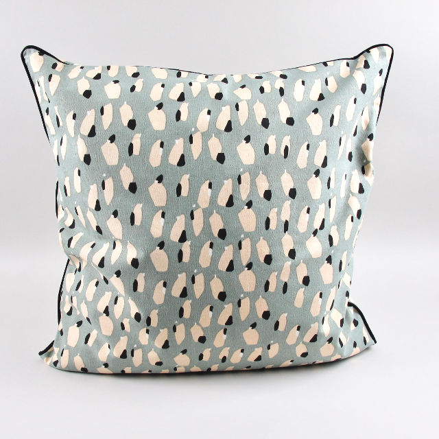 Spotted Cushion - Dusty Blue
