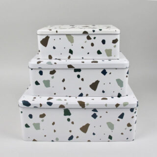 Set of 3 Nesting Tins - Terrazzo