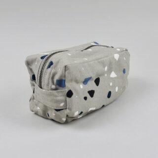 Terrazzo Print Wash Bag - Grey