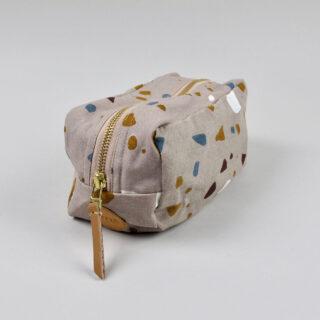 Terazzo Print Wash Bag - Rose