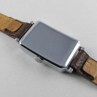 Fontainemelon nickel chrome vintage wristwatch, circa 1935