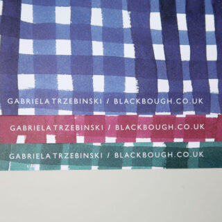 Gingham Ink Gift Wrap - Gabriela Trzebinski for Black Bough