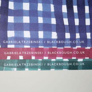 Gingham Ink Gift Wrap - Gabriela Trzebinski for Black Bough