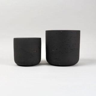 Set of 2 Stratton Plant Pots - Carbon