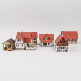 German Wooden Cigar Box Models of Houses