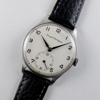 Girard-Perregaux steel vintage wristwatch, circa 1950
