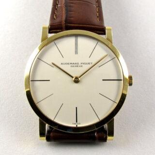 Gold Audemars Piguet vintage wristwatch, made in 1968