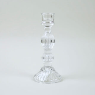 Glass 'Bella' Candlestick - Clear