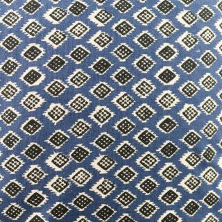 Square 'Dakar' Cushion - Indigo/Black