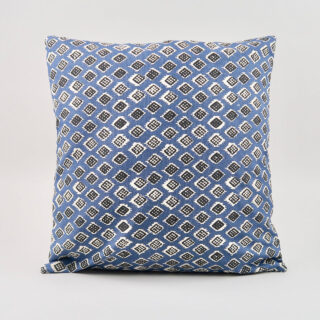 Square 'Dakar' Cushion - Indigo/Black