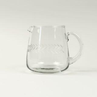 Glass Jug with Laurel Leaf Design