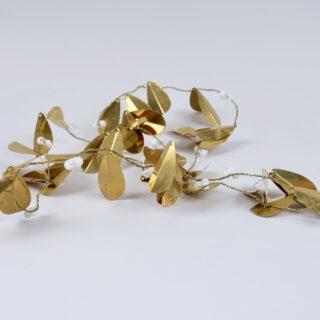 Brass Mistletoe Garland