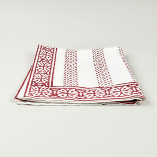 Block Printed Cotton Napkin - Raspberry