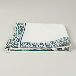 Block Printed Cotton Napkin - Sapphire