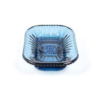 Glass Bijou Soap Dish - Pale Blue