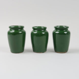 Vintage Cream Jar - Green Glaze