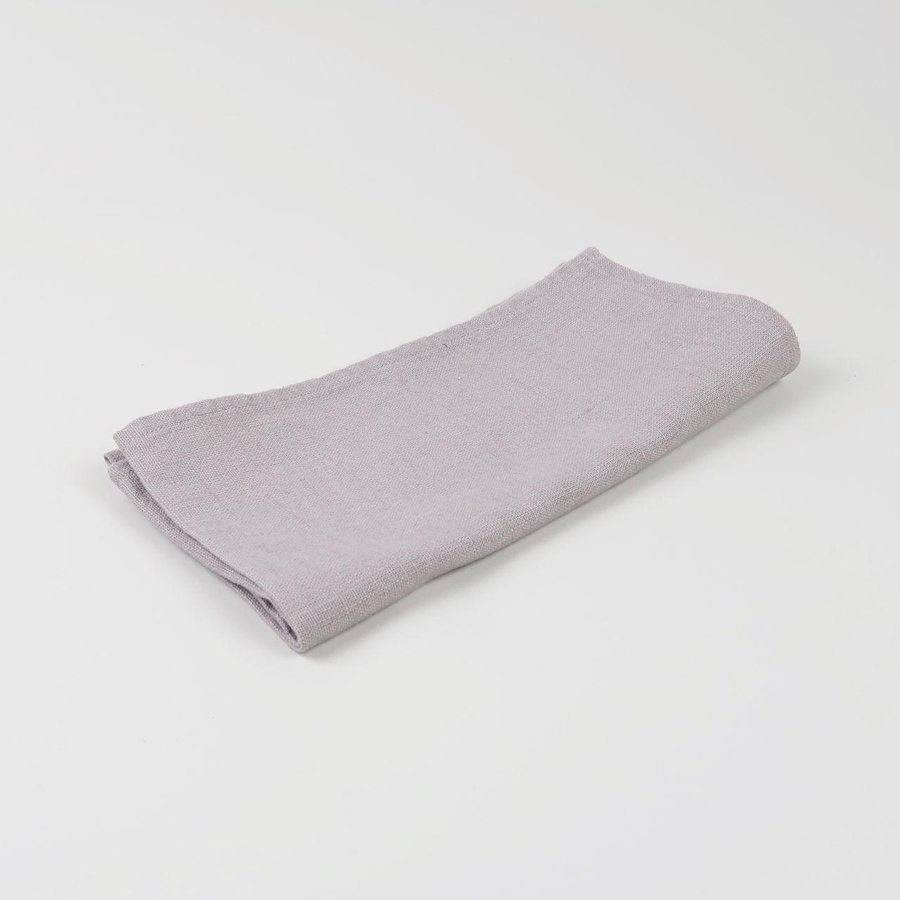 Grey 100% Linen Napkin - Handmade in Ludlow