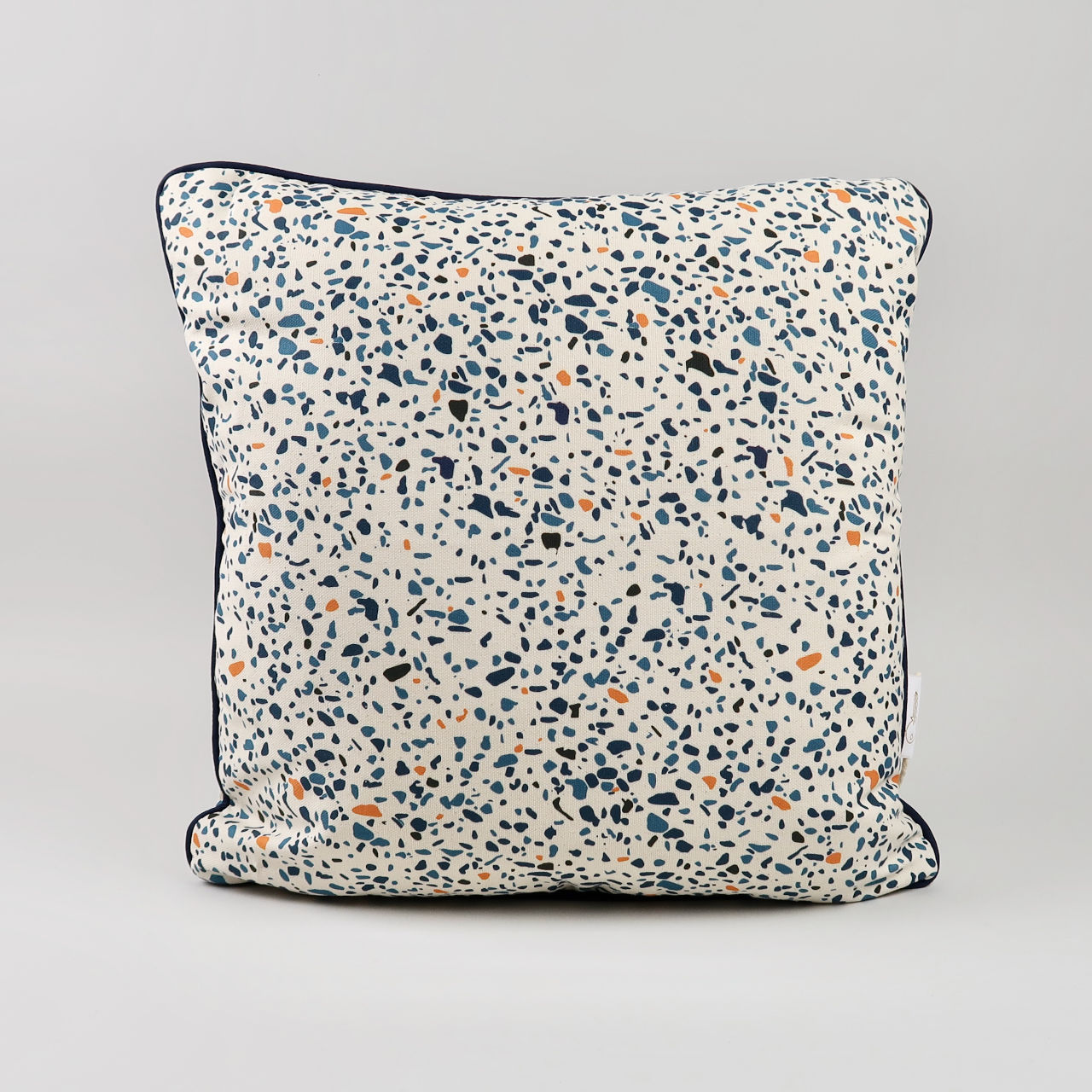 Blue Terrazzo Print Cushion