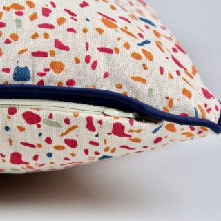 Pink Terrazzo Print Cushion