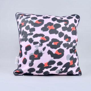 Pink Leopard Print Cushion
