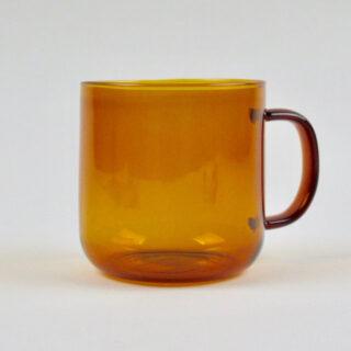 Amber Borosilicate Glass Mug