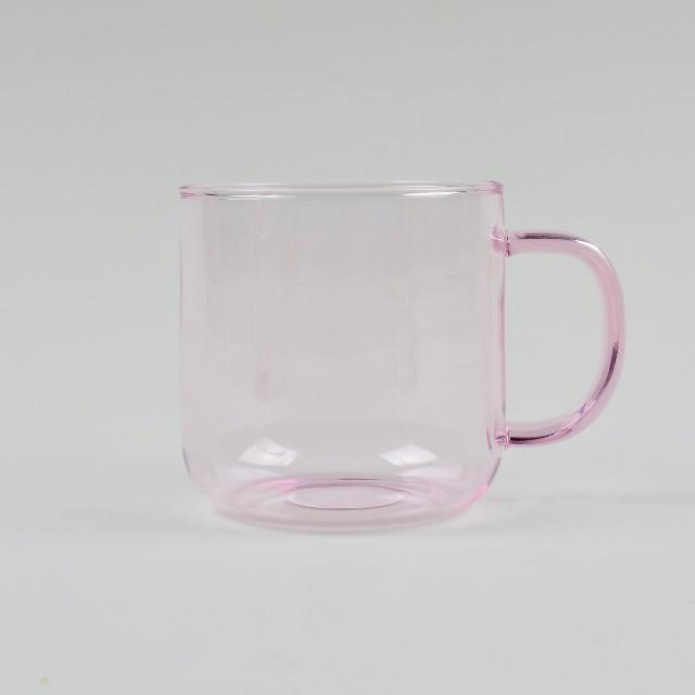 Pink Borosilicate Glass Mug