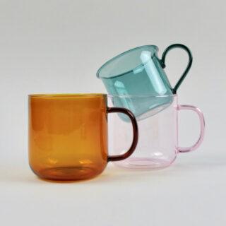 Aqua Borosilicate Glass Cup