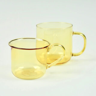 Yellow Borosilicate Glass Cup