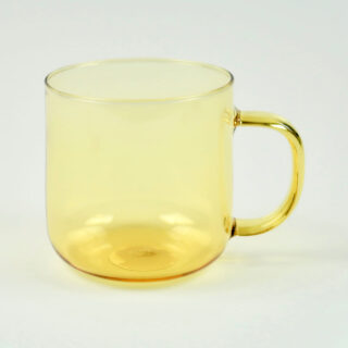 Yellow Borosilicate Glass Mug