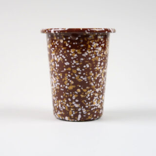 Enamel Cup - Sprinkle Brown