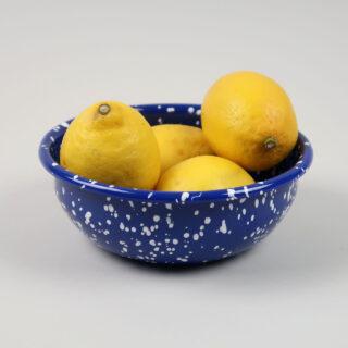 Enamel Bowl - Speckle Blue